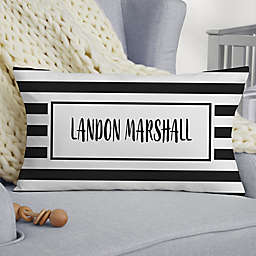 Black & White Lumbar Baby Throw Pillow