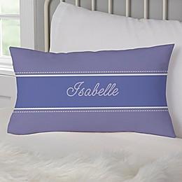 Her Name Personalized Lumbar Throw Pillow