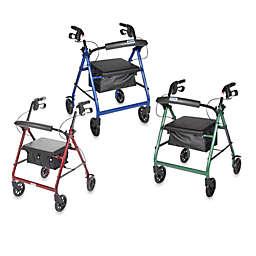 Drive Medical Four-Wheeled Rollator w/6
