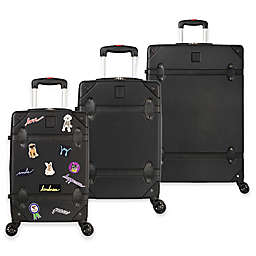 ED Ellen DeGeneres Creston 3-Piece Hardside Spinner Luggage Set in Black
