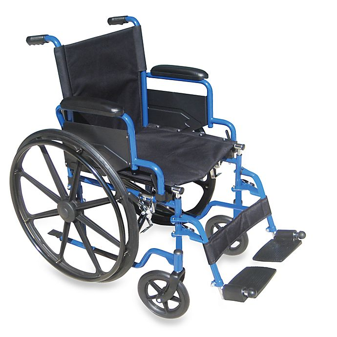 Alternate image 1 for Drive Medical Blue Streak 18-Inch Manual Wheelchair