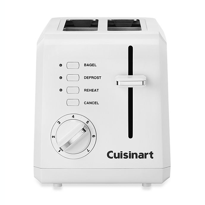 Alternate image 1 for Cuisinart® White Compact Cool-Touch 2-Slice Toaster