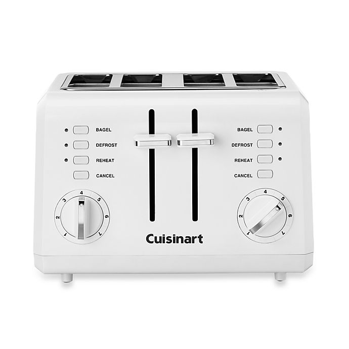 Cuisinart 174 White Compact Cool Touch 4 Slice Toaster Bed