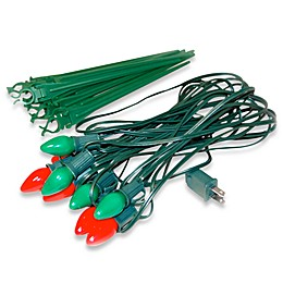 Electric Red and Green Pathway Lights (10-Piece)