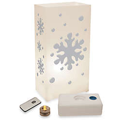 Remote Controlled 10-Count LED Snowflake Luminaria Kit