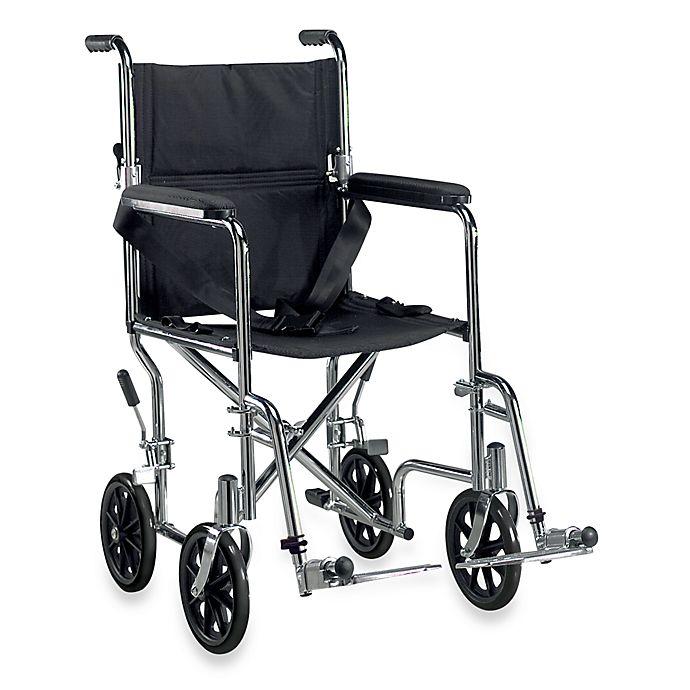 Alternate image 1 for Drive Medical Go Cart Lightweight Steel Transport Wheelchair in Chrome
