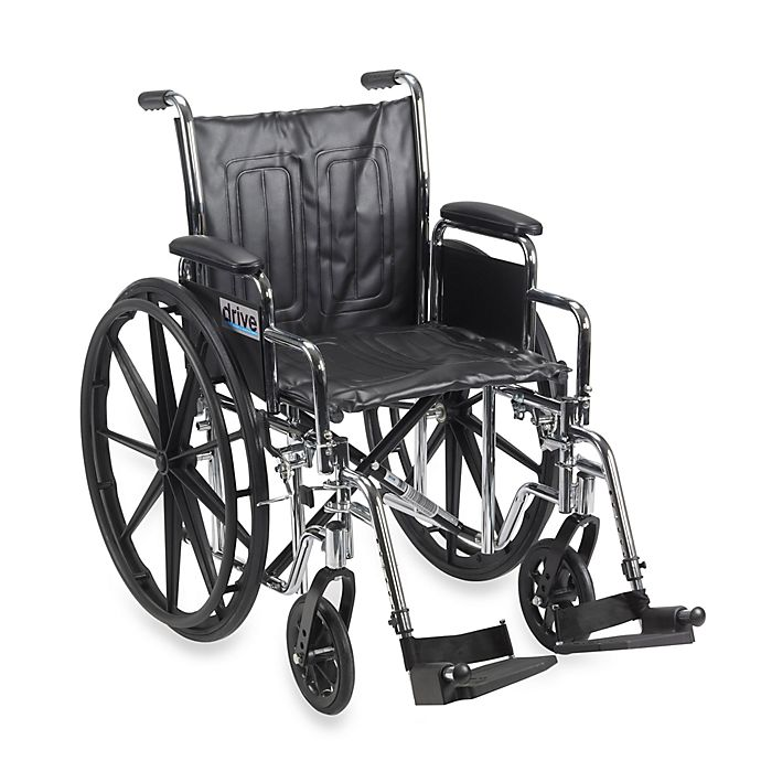 Alternate image 1 for Drive Medical Chrome Sport 18-Inch Wheelchair