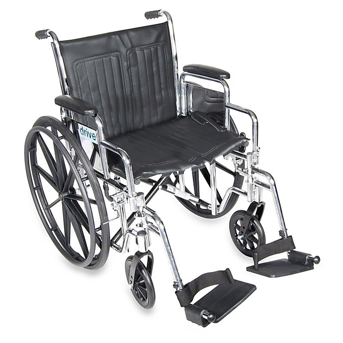 Alternate image 1 for Drive Medical Chrome Sport 20-Inch Wheelchair