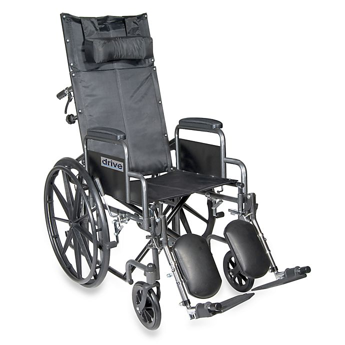 Alternate image 1 for Drive Medical Silver Sport Full-Reclining 16-Inch Wheelchair