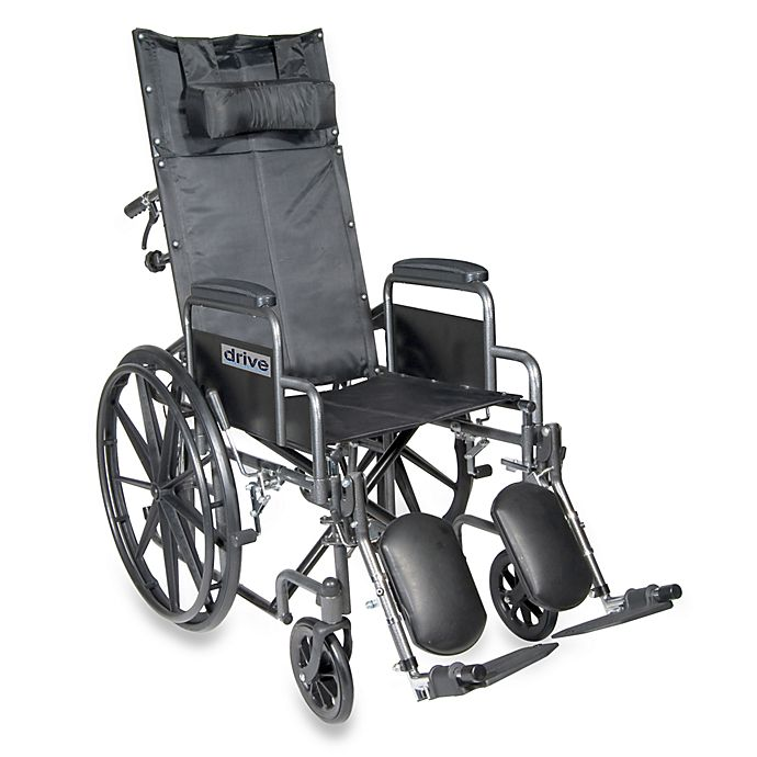 Alternate image 1 for Drive Medical Silver Sport Full-Reclining 20-Inch Wheelchair