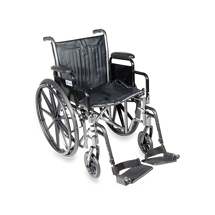 Alternate image 1 for Drive Medical 18-Inch Silver Sport 2 Wheelchair