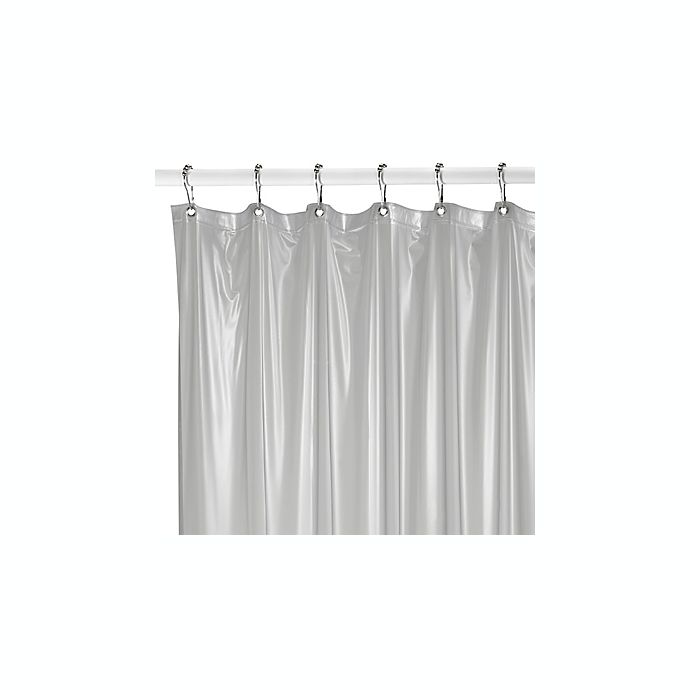 Bed Bath And Beyond Shower Curtain Liner medium weight shower curtain liner in frosted | bed bath & beyond