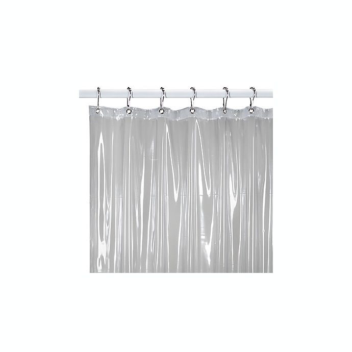 Bed Bath And Beyond Shower Curtain Liner medium weight shower curtain liner in clear | bed bath & beyond