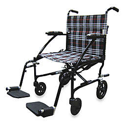Drive Medical Fly-Lite Aluminum Transport Wheelchair in Black
