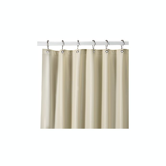 Extra Heavy Weight Vinyl Shower Curtain Liner In Bone