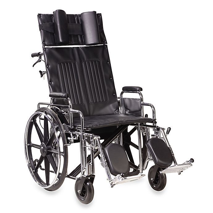 Alternate image 1 for Drive Medical Sentra 22-Inch Full-Reclining Wheelchair