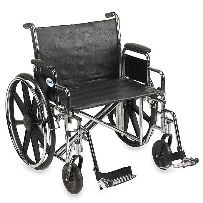Alternate image 1 for Drive Medical Sentra EC Heavy-Duty 24-Inch Wheelchair