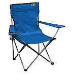Quik Chair Bronze Series Folding Arm Camping Chair in Royal Blue