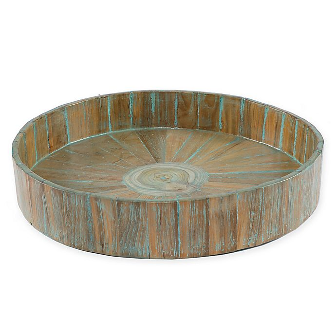 Alternate image 1 for My Zen Home™ Kenchuto 16-Inch Round Tray in Natural
