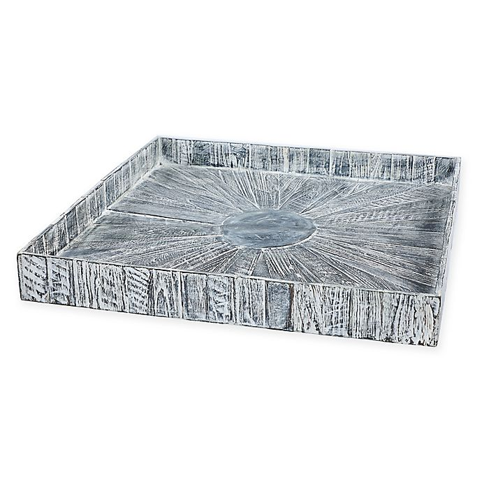 Alternate image 1 for My Zen Home™ Kenchuto Square 24-Inch Tray in Grey/Black