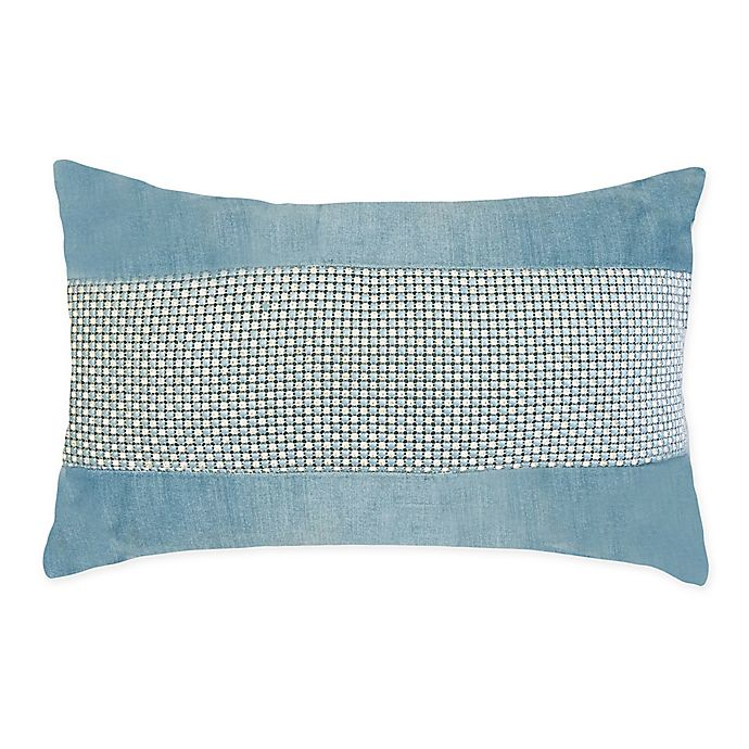 Alternate image 1 for Edie @ Home Rhinestone Throw Pillow in Mineral Blue