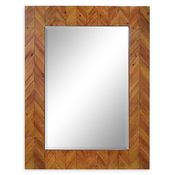 Alternate image 1 for Varaluz Casa Deco Reclaimed Wood Rectangular Mirror