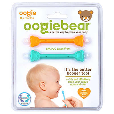 oogiebear™ 2-Pack Infant Nose and Ear Cleaner in Orange/Aqua