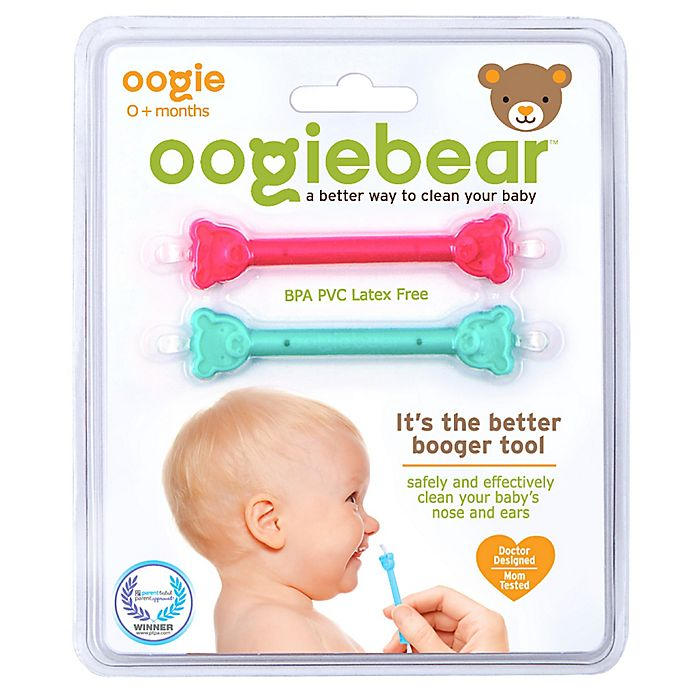Alternate image 1 for oogiebear™ 2-Pack Infant Nose and Ear Cleaner in Pink/Aqua