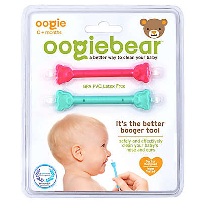 oogiebear™ 2-Pack Infant Nose and Ear Cleaner in Pink/Aqua