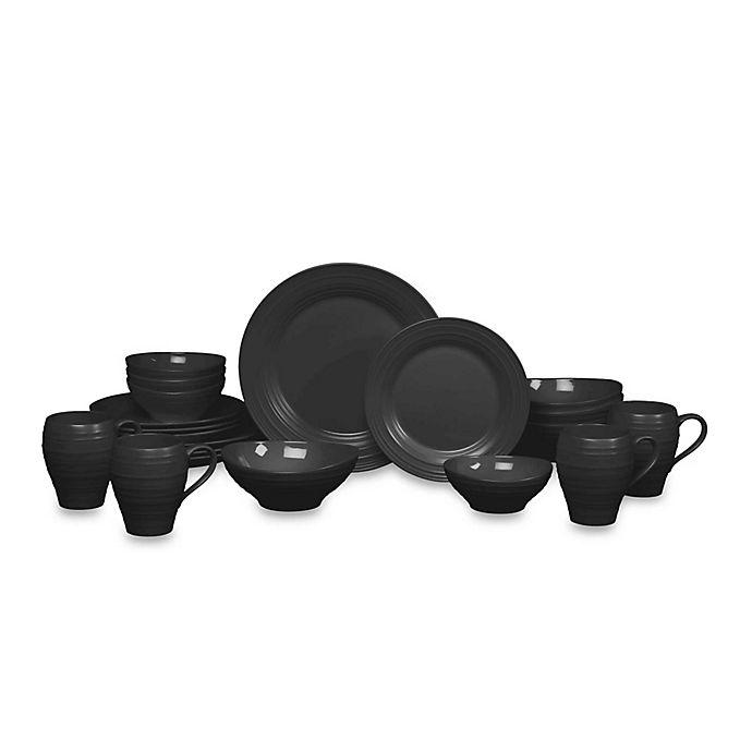 Alternate image 1 for Mikasa® Swirl 20-Piece Dinnerware Set in Black