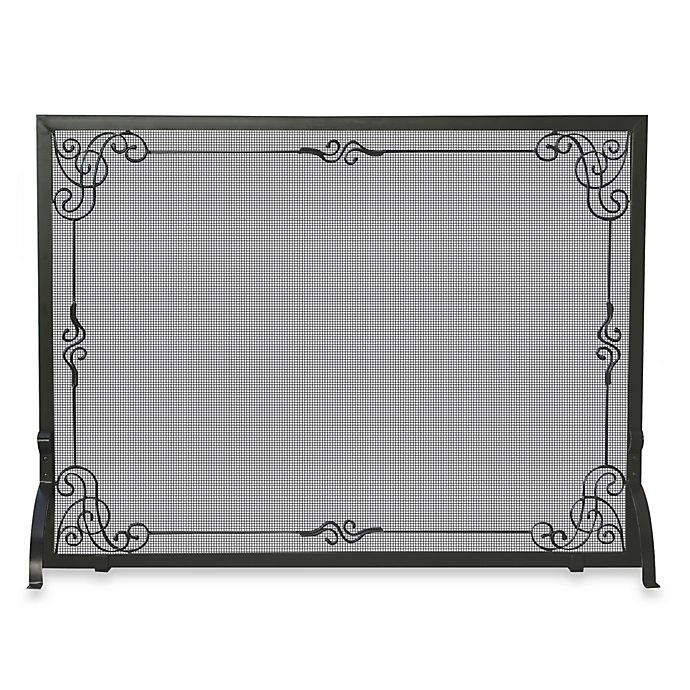 Alternate image 1 for UniFlame® S-1025 44-Inch Black Wrought Iron Fireplace Screen
