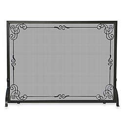 UniFlame® S-1025 44-Inch Black Wrought Iron Fireplace Screen
