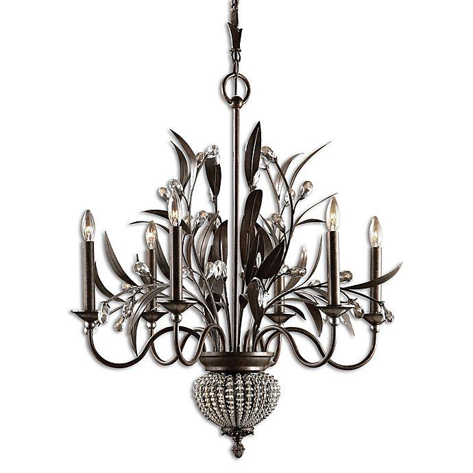 Alternate image 1 for Uttermost Cristal de Lisbon 8-Light Floral Bouquet Chandelier in Bronze