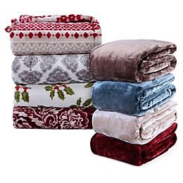 VelvetLoft® Plush Throw Blanket Collection
