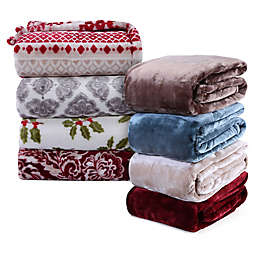 VelvetLoft® Plush Throw Blanket Collection