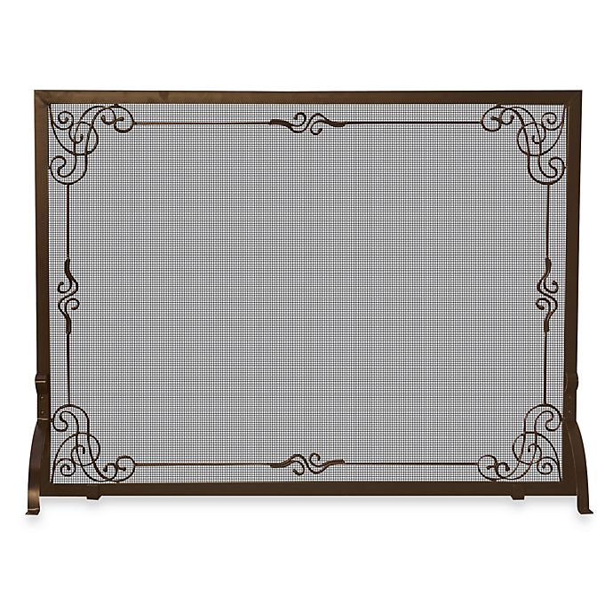 Alternate image 1 for UniFlame® S-1615 44-Inch Bronze Fireplace Screen