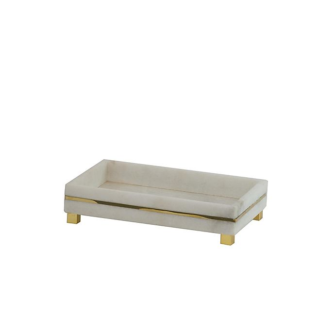 Alternate image 1 for A&B Home Zoe Marble Tray in White