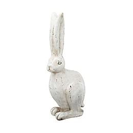 A&B Home White Rabbit Figurine