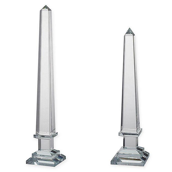 Alternate image 1 for A&B Home Lucent Glass Obelisk Figurine