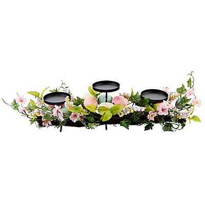 Home Essentials & Beyond Easter Egg Tealight Candle Holder Centerpiece