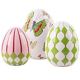 3-Piece Ceramic Decorative Easter Egg Set