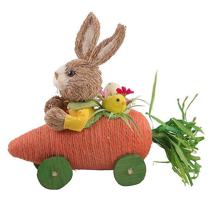 6cb6fac04687 Rabbit in Carrot Race Car Easter Figurine