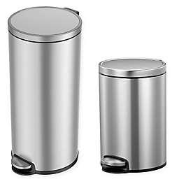 Eko® Eva Stainless Steel Step Trash Can