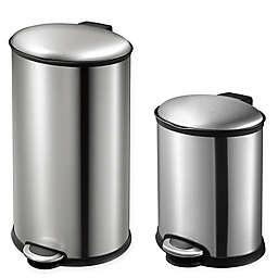 Eko® Ellipse Stainless Steel Step Trash Can