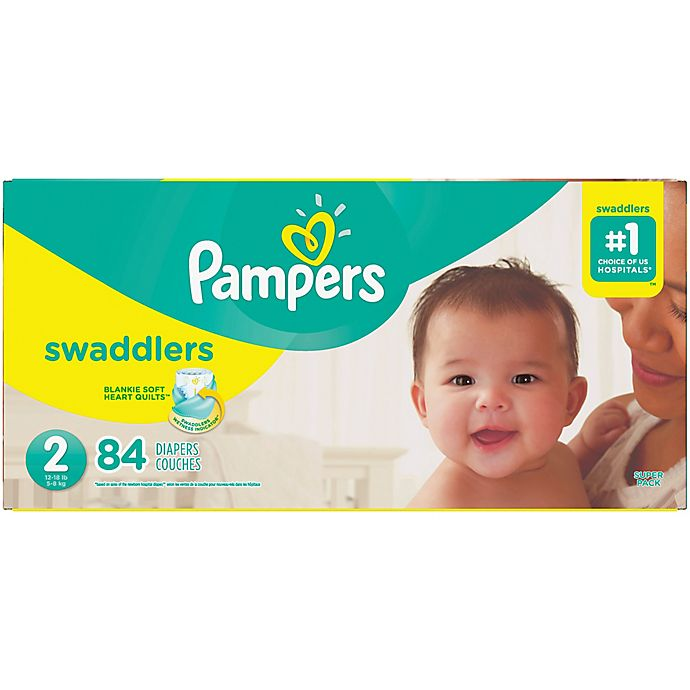 d0ba0bb67902 Pampers® Swaddlers™ 84-Count Size 2 Super Pack Diapers | Bed Bath ...