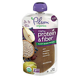 Plum Organics Mighty Protein and Fiber Pear, White Bean, Blueberry, Date, and Chia Pouch