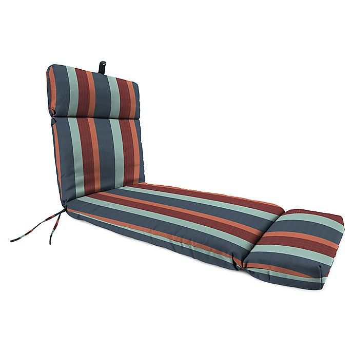 Alternate image 1 for Stripe 72-Inch x 22-Inch Chaise Lounge Cushion in Sunbrella® Fabric