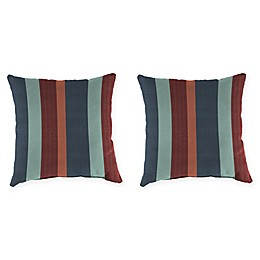 Stripe Outdoor 20-Inch Square Throw Pillows in Sunbrella® Fabric (Set of 2)