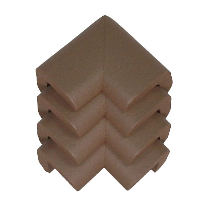 Alternate image 1 for KidKusion® Soft Corner Cushions (Package of 4) in Brown