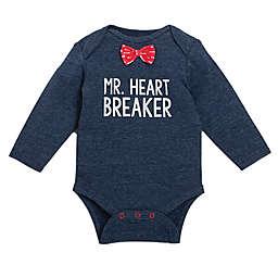 """babyGEAR™ """"Mr. Heart Breaker"""" Long Sleeve Bodysuit in Navy"""